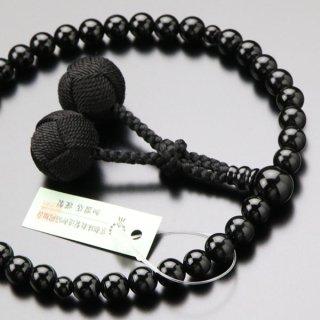 数珠 女性用 約7ミリ 黒オニキス 梵天房≪単色≫ 2000200200390