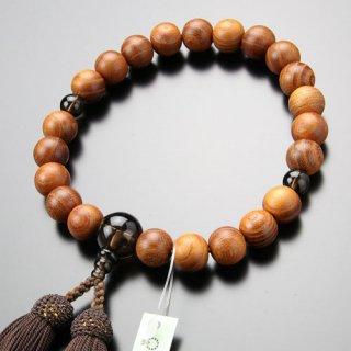 数珠 男性用 22玉 欅 茶水晶 正絹房 2000100301159