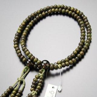 日蓮宗 数珠 女性用 8寸 緑檀 茶水晶 梵天房 102660009 送料無料
