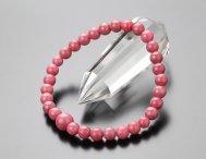 約6ミリ ロードナイト 数珠ブレスレット【腕輪念珠/パワーストーン/天然石】【送料無料】