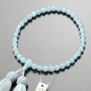数珠 女性用 約7ミリ 4A´ アクアマリン 正絹2色房 102080172 送料無料