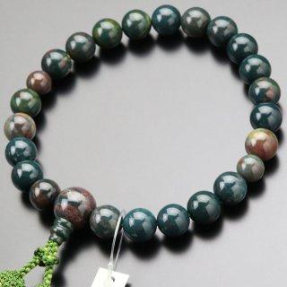 数珠 男性用 22玉 ブラッドストーン 正絹2色房 2000100401415 送料無料