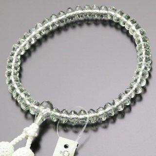 数珠 女性用 スターシェイプ グリーンアメジスト 正絹房 102000046 送料無料