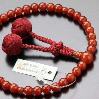 数珠 女性用 約7ミリ 本瑪瑙 梵天房 2000200200413