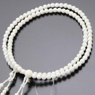 八宗派兼用 数珠 女性用 8寸 白珊瑚 正絹房 102880052 送料無料