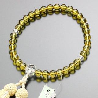 数珠 女性用 約8ミリ 黄水晶 カット水晶 正絹房 2000200401537 送料無料