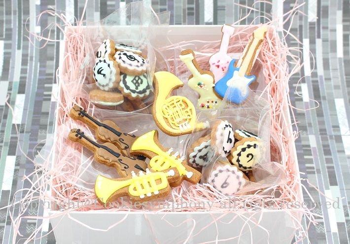 音符柄クッキー&楽器クッキーセット