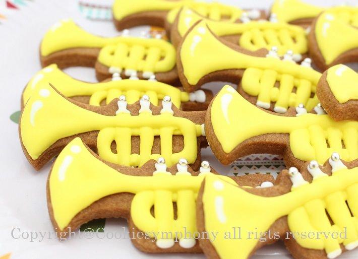トランペット型アイシングクッキー単品