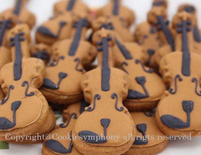 バイオリン型アイシングクッキー単品