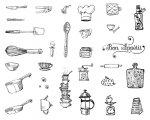 デザイナー・シルクスクリーン DSS-132 キッチンの道具たち