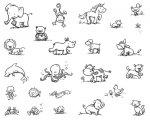 デザイナー・シルクスクリーン DSS-137 可愛い動物集まれ