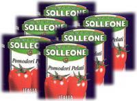 日欧 ソルレオーネ ホールトマト2520g 1号缶×6【常温便】6缶入り 1ケース