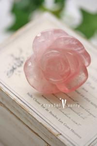 ローズクォーツ 薔薇