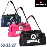 AIRWALKエアウォーク 軽量2WAYボストンバッグ 紺/ピンク/黒