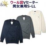 スクールセーター&be(アンビー)暖かいウール混8ゲージVネック男女兼用 トンボ学生服