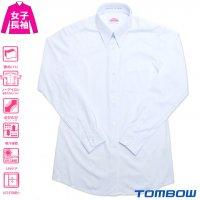 TOMBOWトンボ 透けにくいスクールシャツ シーブロック 女子 長袖 S-EL/BM-BEL 透けにくい/ノーアイロン/ストレッチ/吸汗速乾/UVケア 青白