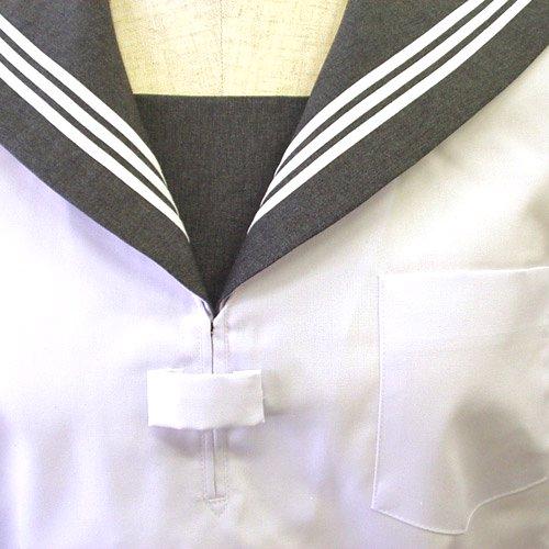 白セーラーグレー衿