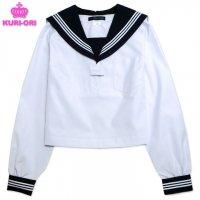 KURI-ORI(クリオリ) 白セーラー服(紺襟・白三本線)長袖A体