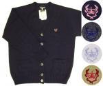 OLIVE des OLIVE school(オリーブ・デ・オリーブスクール)クラウン刺繍綿アクリル混スクールカーディガン