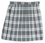 制服スカート(グレー白ピンクチェック柄スクールスカートW75〜85)