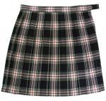 チェック柄制服スカート(ブラック×ピンクチェック)丈54