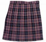 チェック柄制服スカート(濃紺赤白チェック)丈54