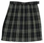 ベンクーガー通学用スクールスカート(グレーチェック・サックスライン)W75〜85