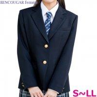 Bencougar Femme スクールブレザー 女子用 濃紺 S-LL ウォッシャブル2つボタン ウォッシャブル