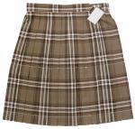 夏用制服スクールスカート【KURI-ORI(クリオリ)ブラウンピンクチェック】W75/W80/W85