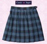 制服スカート★CandySugar(キャンディーシュガー) ブルーチェックW75〜85(サイズ別価格)