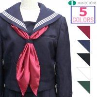 セーラー服用シルックサテン三角スカーフ(三角タイ)