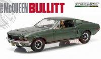 グリーンライト 1968 マスタング Bullitt ブリット ドライビングフィギュア付き 1:18