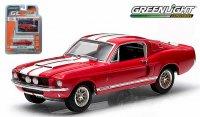 グリーンライト GL MUSCLE 1967 シェルビー GT500 レッド/ホワイトストライプ 1:64