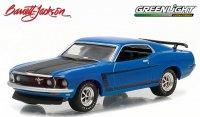 グリーンライト バレット・ジャクソン#1 1969 フォード マスタング BOSS302 ブルー 1:64