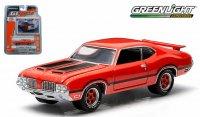 グリーンライト GL MUSCLE 1972 オールズモビル カトラス 442 オレンジ 1:64