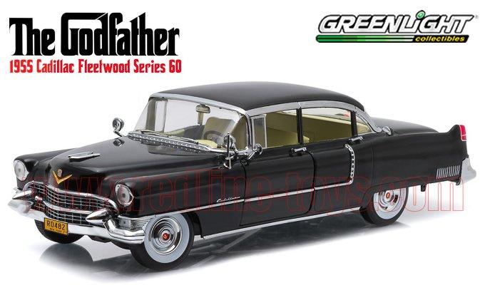 グリーンライト 1955 キャデラック フリートウッド シリーズ60 映画「ゴッドファーザー」 1:18