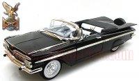 限定600個 ロードシグネチャー 1959 シボレー インパラ コンバーチブル ブラック 1:18