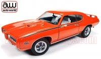 限定1002個 オートワールド 1969 ポンティアック GTO ジャッジ オレンジ 1:18