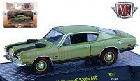 M2 DetroitMuscle #32 1969 プリムス クーダ 440 グリーン 1:64