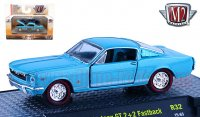 M2 DetroitMuscle #32 1965 フォード マスタング GT 2+2 ファストバック ライトブルー 1:64