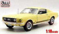 オートワールド 1967 フォード マスタング GT 2+2 イエロー 1:18