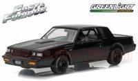 グリーンライト FAST & FURIOUS DOM'S 1987 ビュイック グランナショナル GNX ブラック 1:43