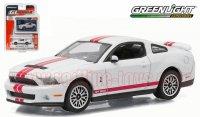 グリーンライト GL MUSCLE #15 2012 シェルビー GT500 SVT ホワイト 1:64