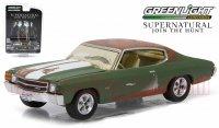 グリーンライト HOLLYWOOD #14 1971 シボレー シェベル SS ドラマ「スーパーナチュラル」 1:64