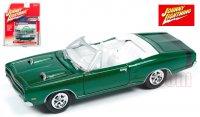 ジョニーライトニング MUSCLE CARS U.S.A #A 1969 ダッジ コロネット コンバーチブル グリーン 1:64