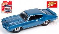 ジョニーライトニング MUSCLE CARS U.S.A #B 1971 ポンティアック GTO ブルー 1:64