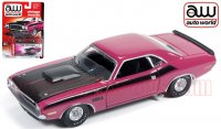 Autoworld 1970 ダッジ チャレンジャー T/A ピンク 1:64