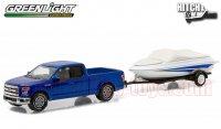 グリーンライト HITCH&TOW #6 2015 フォード F-150 & ボートトレーラー 1:64