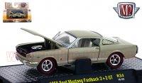 M2 DetroitMuscle #34 1966 フォード マスタング ファストバック 2+2 GT サハラベージュ 1:64