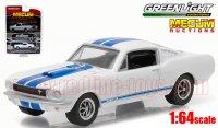グリーンライト MECUM EXCLUSIVE 1965 シェルビー GT350 ホワイト/ブルーストライプ 1:64